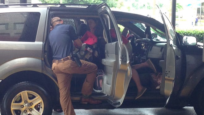 The LaSalle Parish Sheriff's Office and Louisiana State Police Troop E will conduct free child passenger safety seat check-ups Wednesday from 9 a.m. to noon at the First Baptist Church Family Life Center, 2725 East Oak St. in Jena.