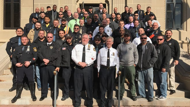 The Fort Lee Police Department halfway through No-Shave November.