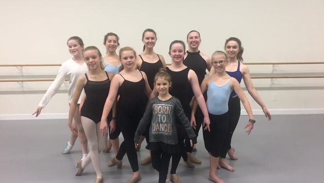 The ten dancers from Dance South who will be dancing in Moscow Ballet's Russian Nutcracker.