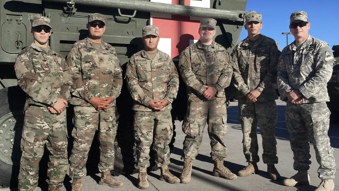 Members of Medical Platoon with 3-41 Infantry did some training with nurses and other medical personnel from William Beaumont Army Medical Center.