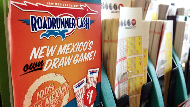 Lottery forms fill a kiosk at a convenience store in Albuquerque, N.M., Thursday, May 18, 2017. Lottery officials say the transfers of proceeds to the state's lottery scholarship fund are lagging behind last year's levels by nearly $8 million.