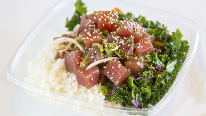 The Aloha Classic poke bowl at Poke Wave in Tempe.