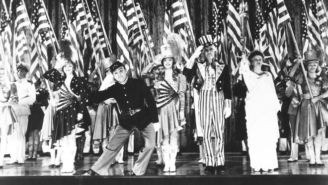 "James Cagney plays George M. Cohan in ""Yankee Doodle Dandy."""