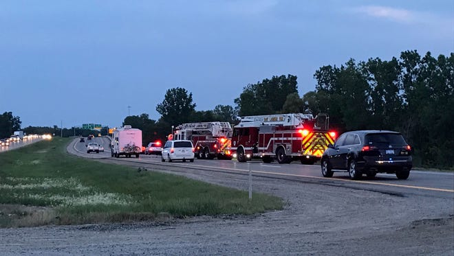 Northbound U.S. 127 was closed in East Lansing on Aug. 10, 2017, due to a hit and run crash that killed one person and injured four others.