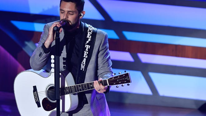 Thomas Rhett performs during the 11th annual Academy of Country Music Honors at the Ryman Auditorium in Nashville, Tenn., Wednesday, Aug. 23, 2017.