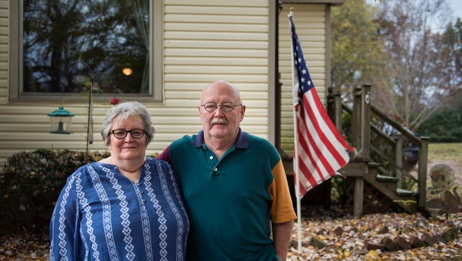 "Linda and John Adams live in Stanton, Tenn. The couple agreed that ""this country (needs to) return to the values it was built on."""