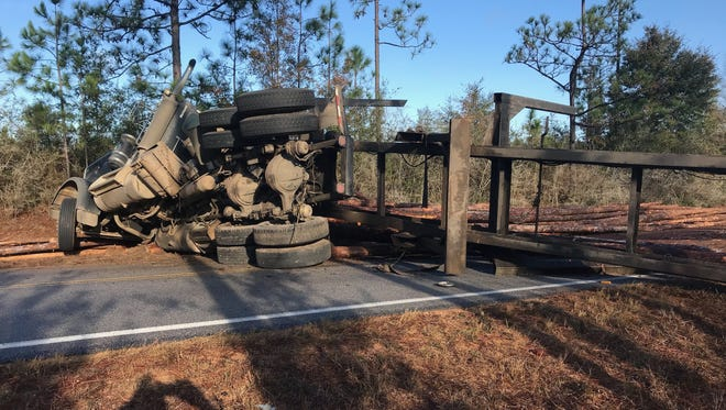 A single-vehicle crash on Munson Highway forced a temporary shutdown on Friday morning in Santa Rosa County.