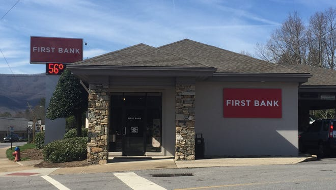 A First Bank location in Black Mountain, North Carolina. First Bank recently completed a $175 million merger with Asheville Savings Bank.
