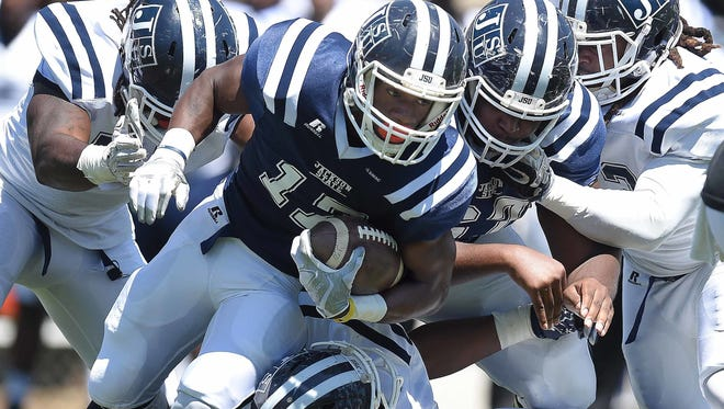 Jordan Johnson and the JSU offense were clicking early Monday morning in the Tigers' second spring scrimmage.