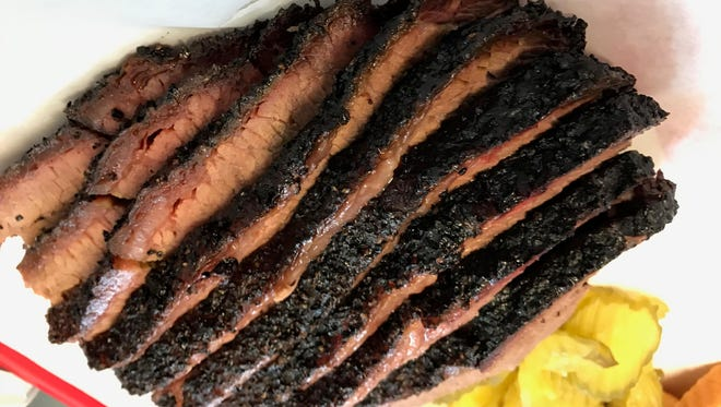 The brisket from Desert Oak Barbecue is juicy and tender, without need for any sauce.