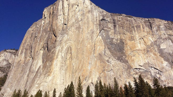 This Jan. 14, 2015, file photo, shows El Capitan in Yosemite National Park, Calif.