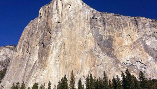 This Jan. 14, 2015, file photo shows El Capitan in Yosemite National Park.