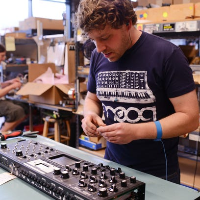 Moog Music doubles as a Moogfest factory
