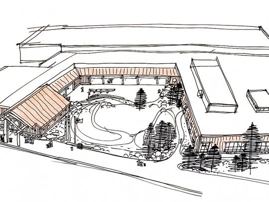 An architectural rendition of the Chachalu Tribal Museum and Cultural Center, which was be built on tribal land near the tribal offices in the summer of 2014.