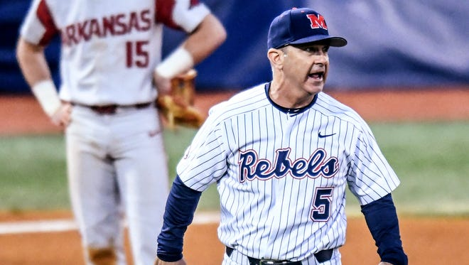 Mike Bianco witnessed his Ole Miss squad even its series against Arkansas with a 5-4 victory Friday.