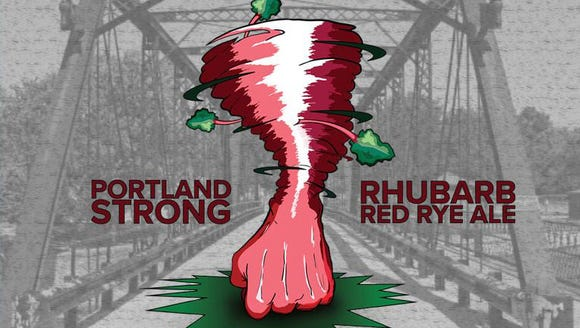 Saugatuck Brewing has created a Portland Strong Rhubarb