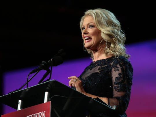 Mary Hart hosts the Palm Springs International Film Festival Awards Gala Saturday, Jan. 2, 2016.
