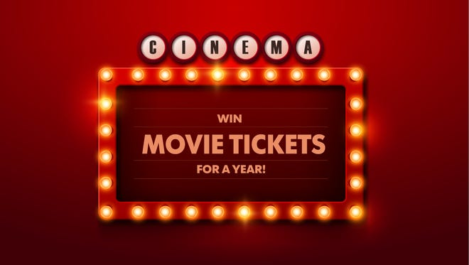 Win movie tickets for a year