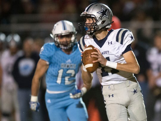Farragut's Gavin Wilkinson looks for an open receiver