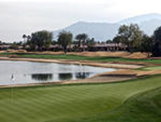 The 18th green of the Nicklaus Tournament Course at