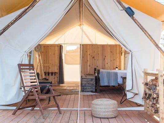 Under Canvas' luxury tents