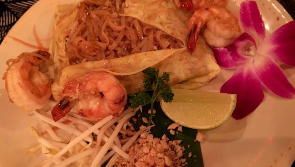 Zen Asian BBQ's pad Thai is served deconstructed in