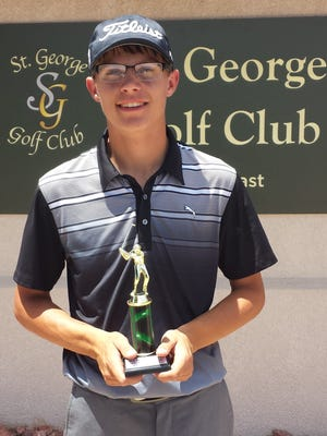 Beaver's Davis Heslington poses for a picture after a second place finish at St. George Golf Club. Heslington makes the 220-mile round trip journey to play in the weekly JAG summer tournaments in St. George.