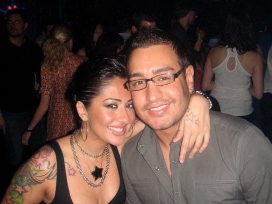 Anthony D'Ambrosio, 29, with one of his sisters.