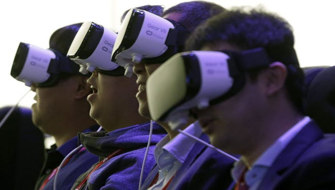 Samsung Gear VR offers a virtual reality experience anchored to an Android smartphone.
