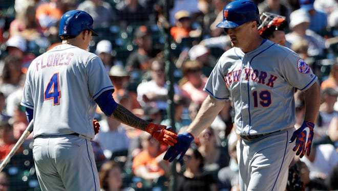 Jay Bruce and Wilmer Flores.