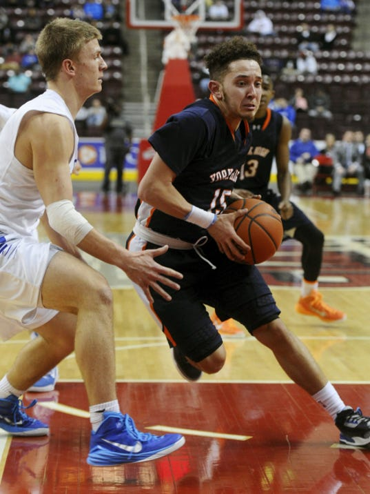 William Penn's Trey Shifflett drives to the basket during the District 3 Class AAAA championship game. William Penn won its second straight title and its third championship in five seasons.