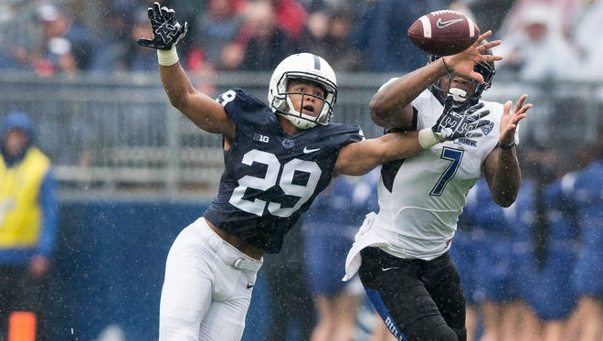 Cornerback John Reid is set to return to the field for Penn State in 2018. He missed all of the 2017 season with knee injury. AP FILE PHOTO