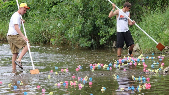 The East Twin Duck Race is one of many activities that will be held during Riverfest, which runs July 23-26 in Mishicot.