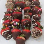 Chocolate dipped strawberries.