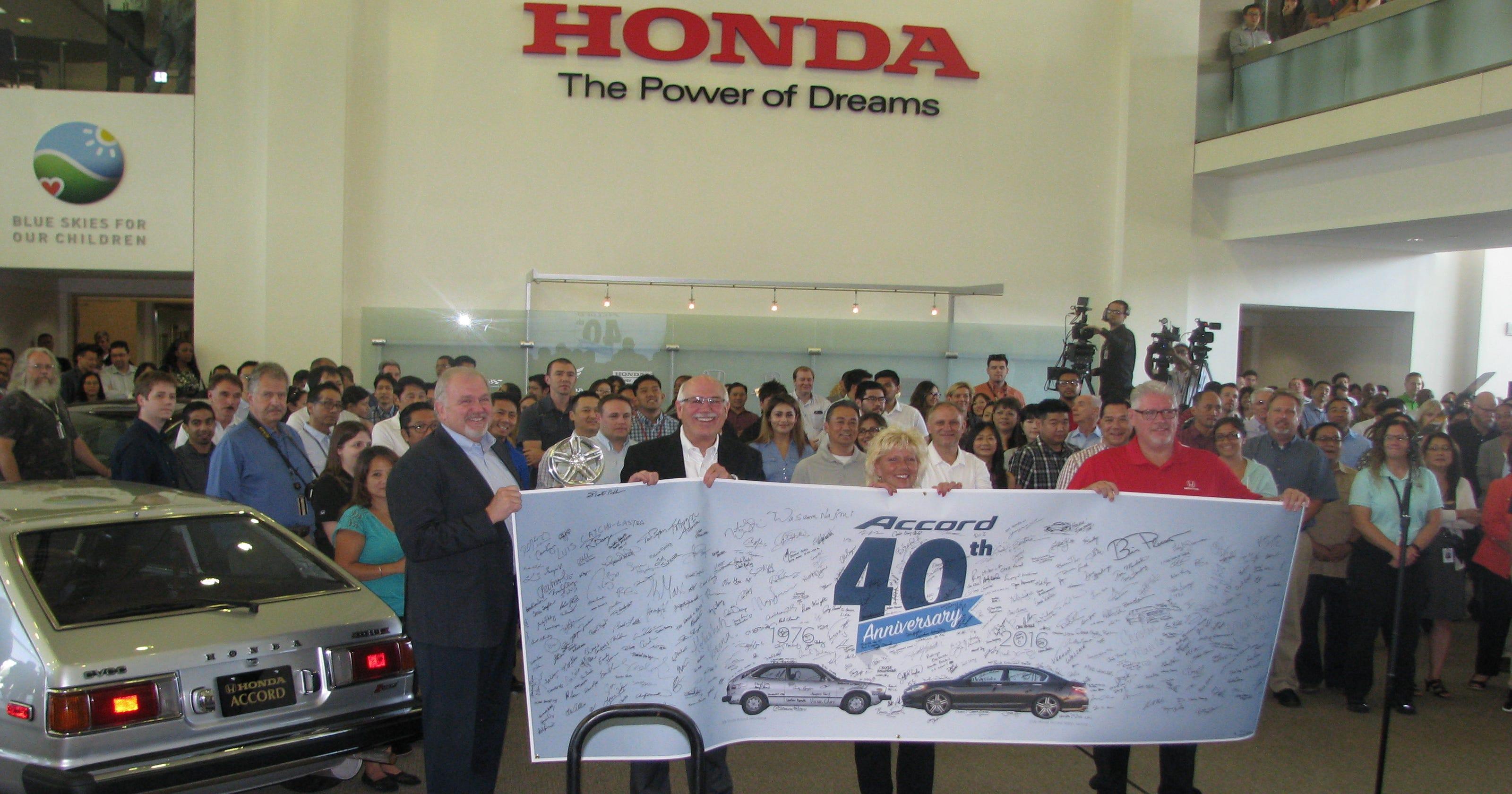 Honda celebrates 40 years of accord for Pay honda bill