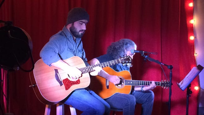 Chris Degnore (left) joins Billy Brandt on an original during the first Classic Hits (with a twist!) show.