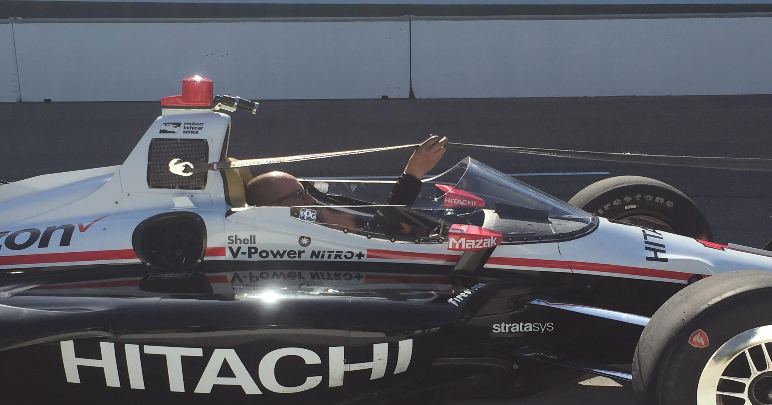 Josef Newgarden puts IndyCar windscreen through paces at IMS