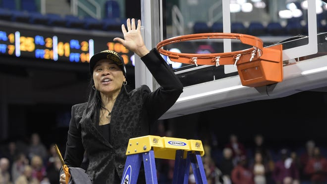 USC and Dawn Staley won an NCAA Regional this past season; with the addition of three high-profile transfers, the Gamecocks are aiming even higher.
