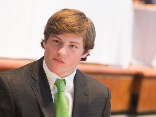 Jackson Tate looks on during the Alabama Sports Writers
