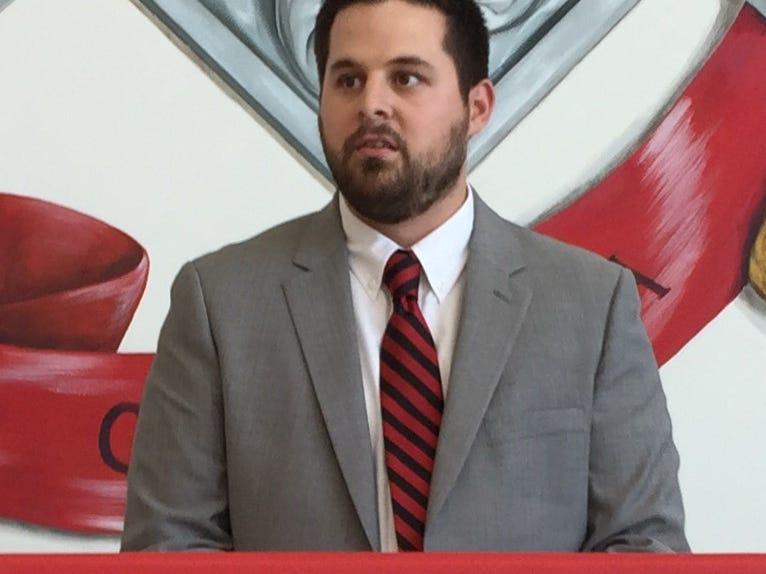 Matt Large, an assistant the past three seasons, is the new head coach of the Wade Hampton High School baseball team.