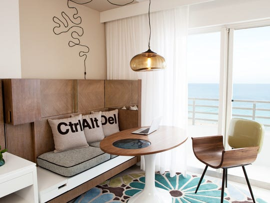 A room at the Royal Palm South Beach Miami, the first