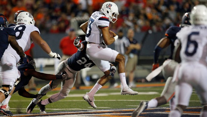 With his job on the line, and a season possibly in the balance, Arizona QB Brandon Dawkins played with focus and determination.