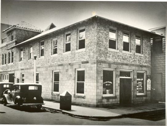 The site of Citizens Bank of Stuart in 1933. It's now