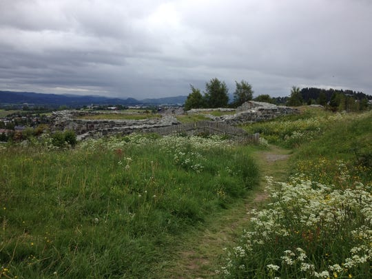 Remains of King Sverre's castle can be seen at Sverresborg, the first stone castle in Norway. It was built in the winter of 1183-84.