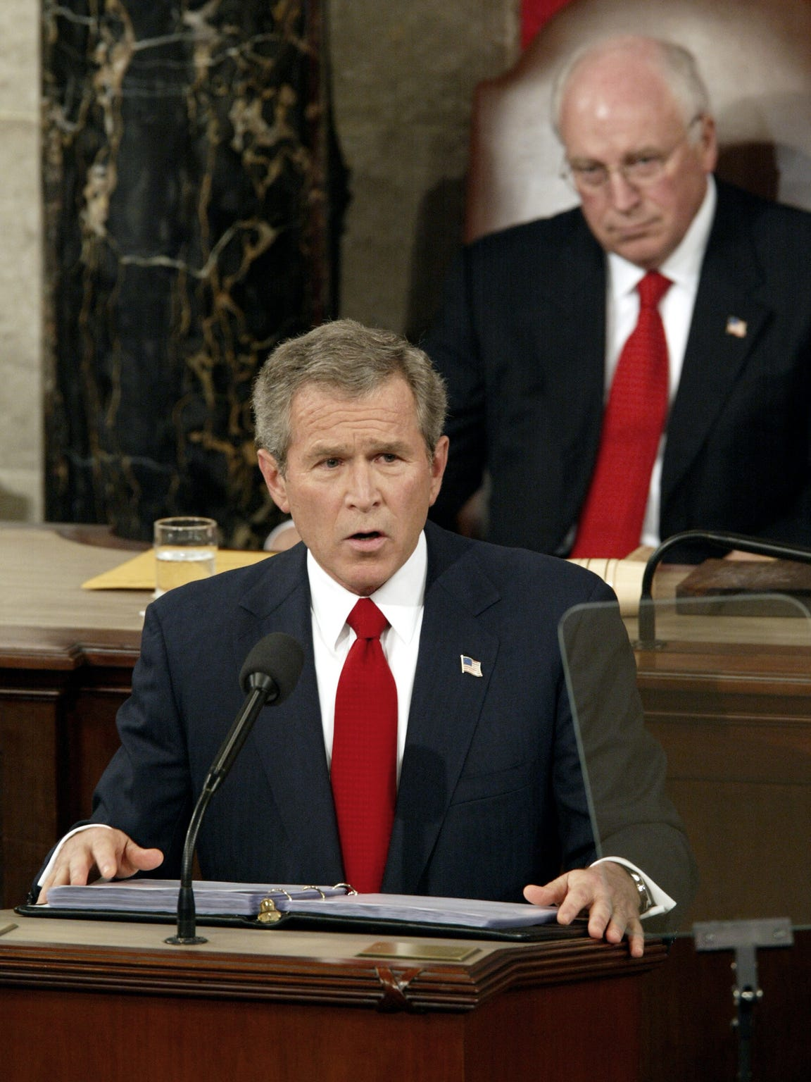 President George W. Bush delivers the State of the