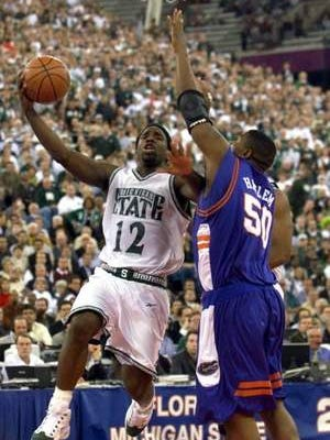 Mateen Cleaves is the only three-time All-American in MSU basketball history.