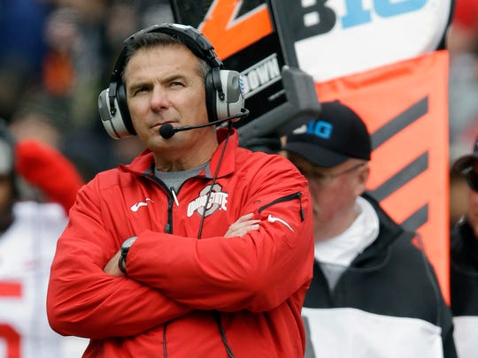 Urban Meyer has a 61-5 win-loss record in five seasons coaching Ohio State.