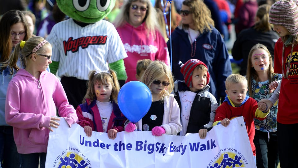 The Under the Big Sky Buddy Walk gets underway on the