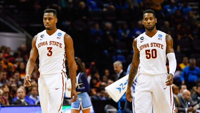 Iowa State senior Melvin Ejim, left, was named a second-team Associated Press All-American on Monday. Teammate DeAndre Kane was an honorable mention choice.