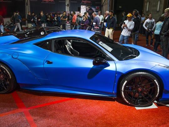 Justin Bieber's 2011 Ferrari 458 Italia is scheduled for auction at Barrett-Jackson Scottsdale on Saturday, Jan. 21, 2017.